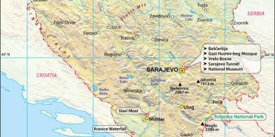 kart bosnia hercegovina Bosnia og Hercegovina Bosnia   Bosnia Hercegovina kart   Kart  kart bosnia hercegovina