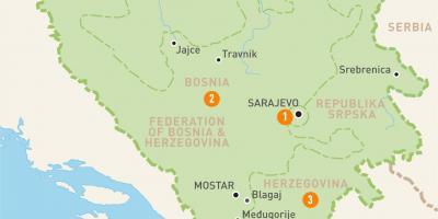 bosnia kart Bosnia og Hercegovina Bosnia   Bosnia Hercegovina kart   Kart  bosnia kart